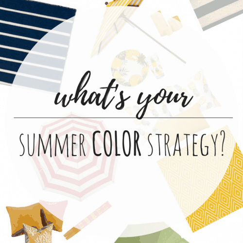 Outdoor Summer Space Color Strategy