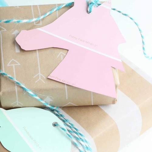 DIY Gift Tags with Paint Swatches