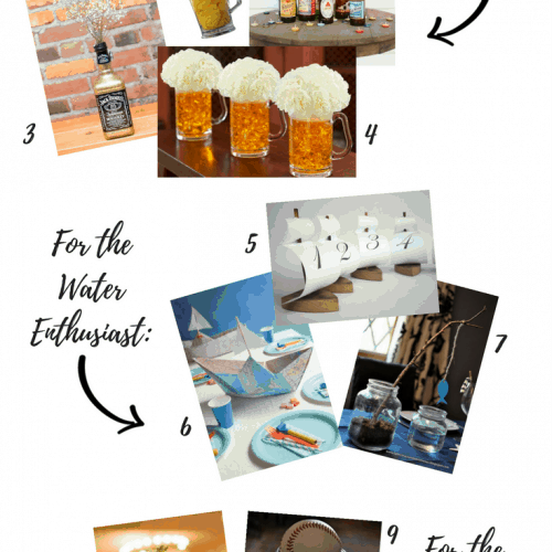Affordable and Easy DIY Centerpieces for Your Guy