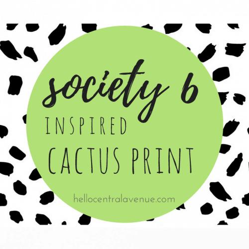 FREE Society 6 Inspired Cactus Print