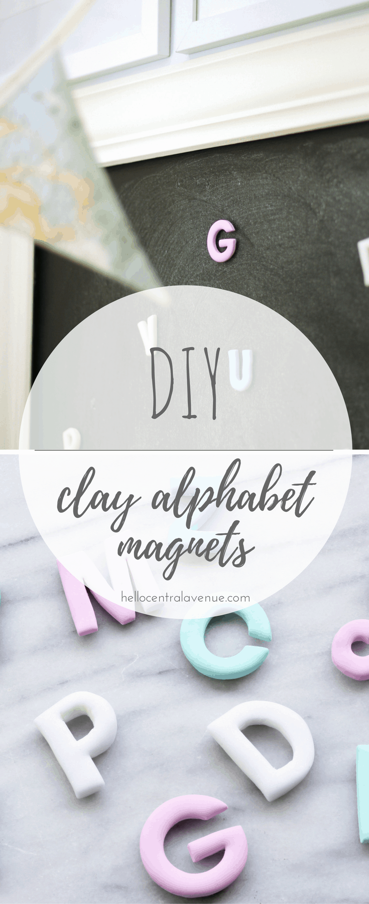 Start the school year off right by making these adorable DIY clay alphabet letter magnets with your kids! They are an easy way to work on fine motor skills!