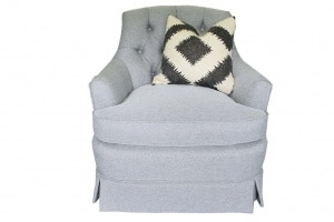 Gray tufted Henredon chair copy copy copy