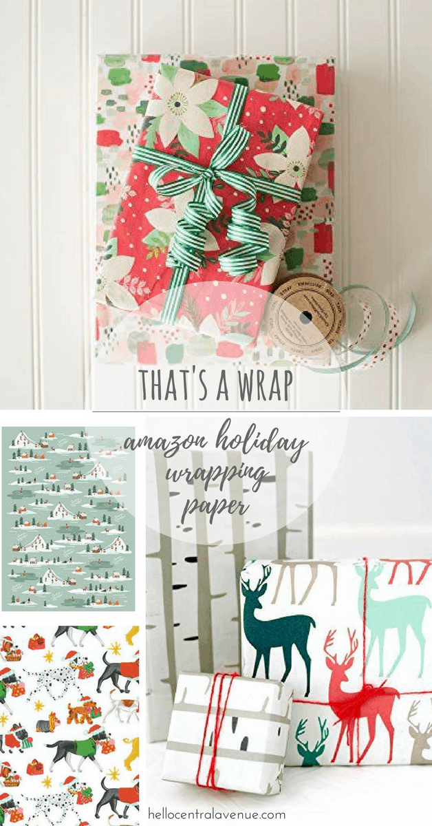 That's a Wrap- adorable Holiday wrapping paper from Amazon