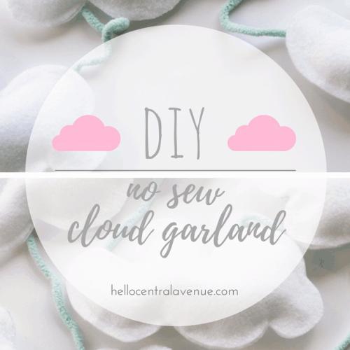 DIY-No Sew Cloud Garland