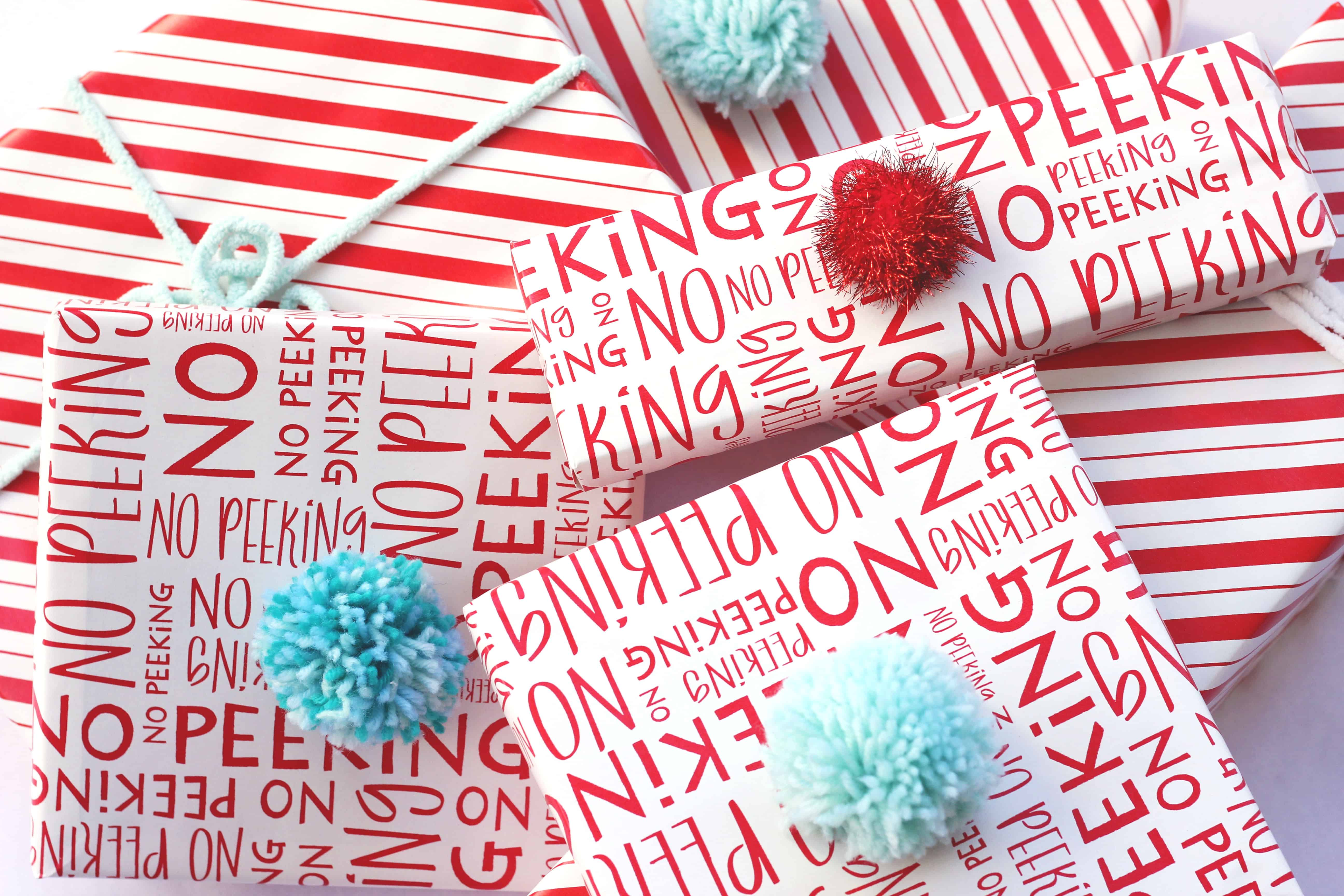 Gift toppers made from yarn and pom poms for your Christmas gifts, birthday gifts, any gifts!
