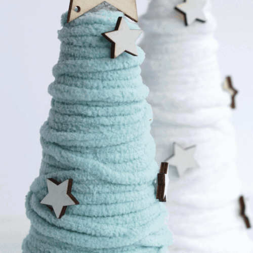 World Market Inspired Yarn Cone Trees