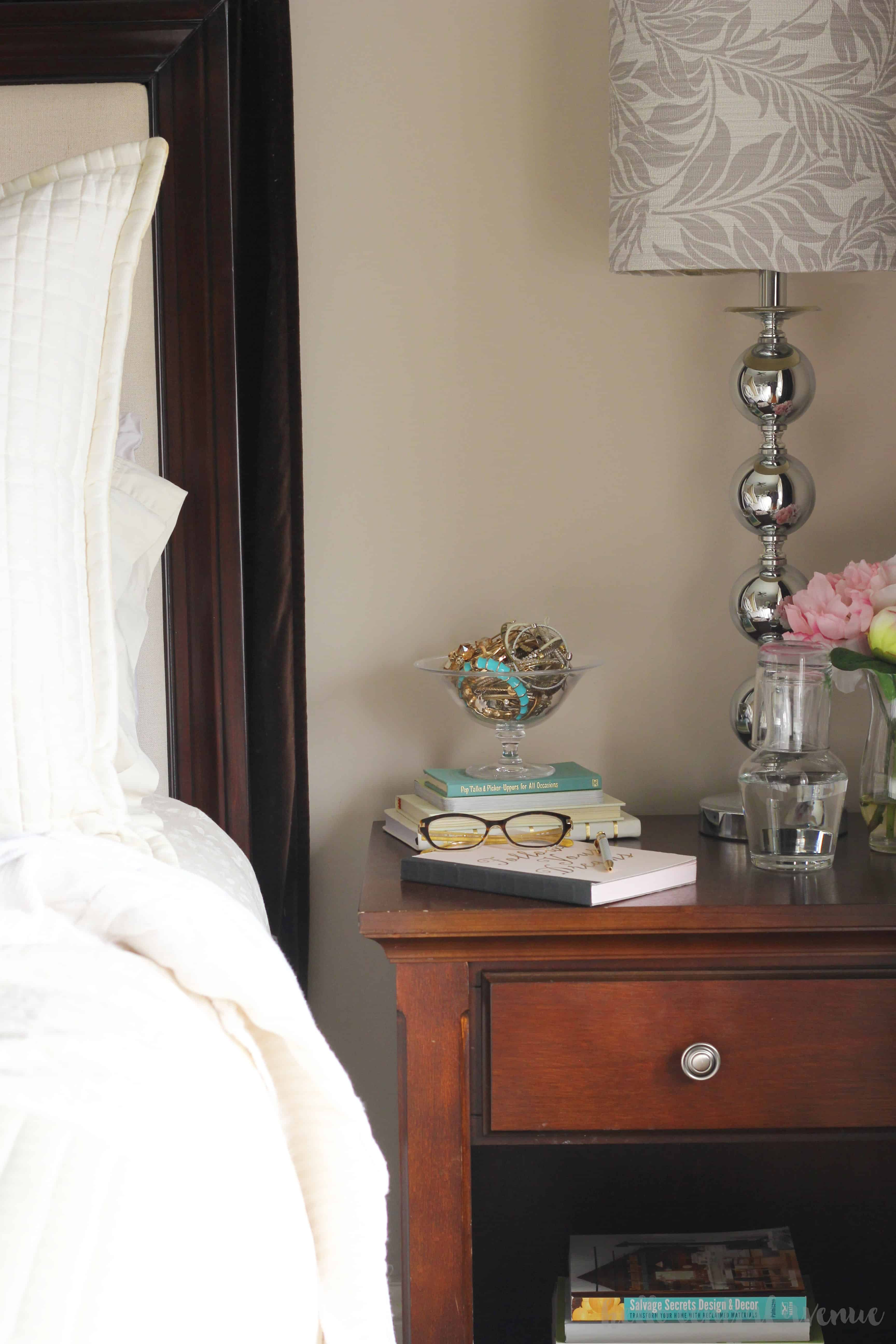Tips to get more sleep with a tiny bedroom refresh and a new nightly routine. Being organized can help you feel refreshed.