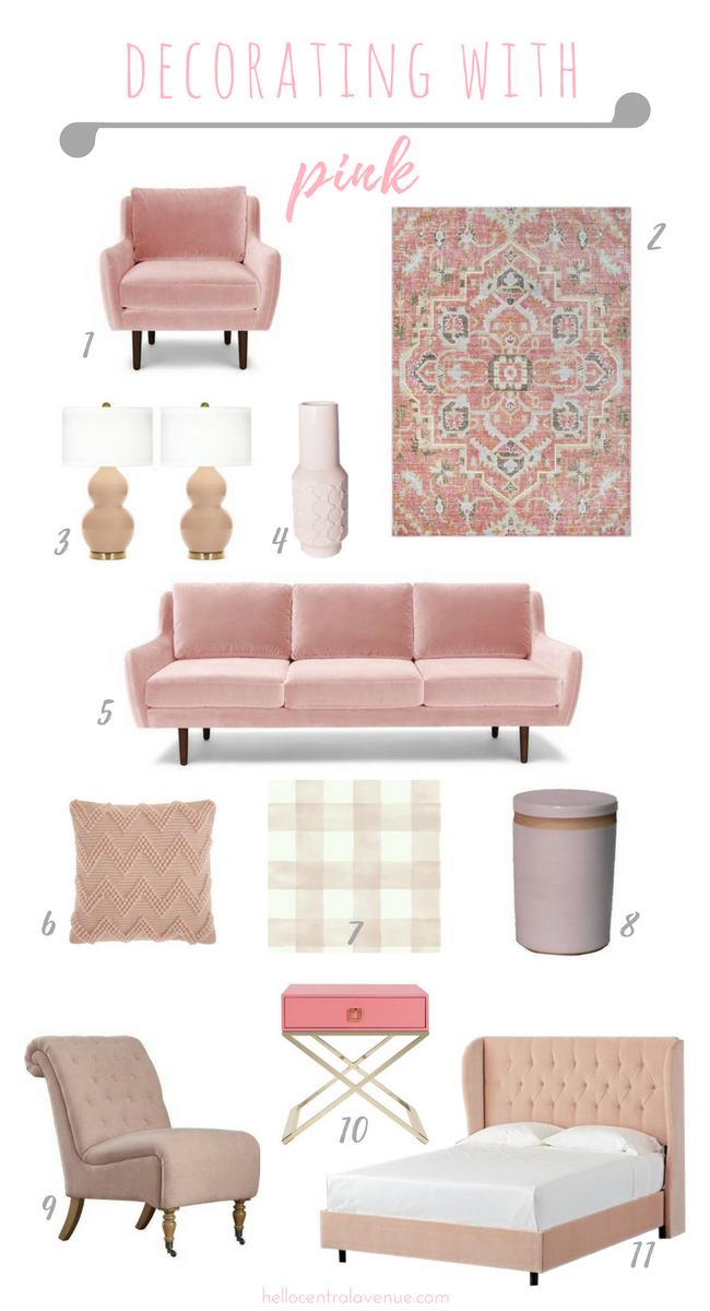 Decorate with pink all around the house. Pink is a new neutral and perfect to add to your home decor during February.