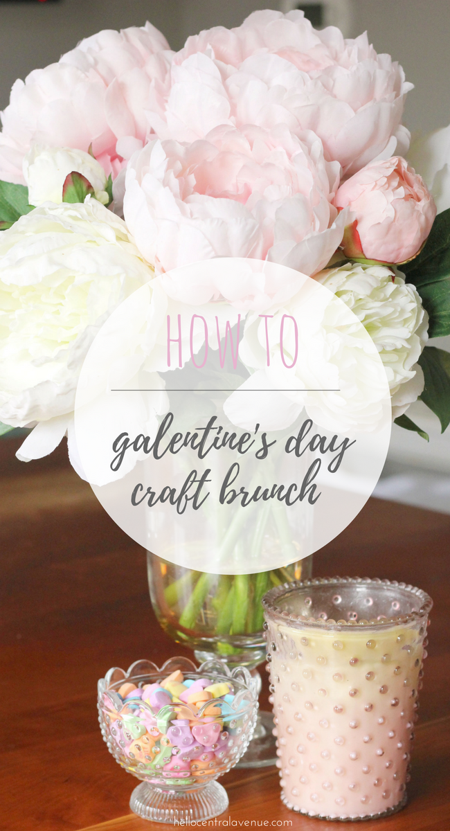 How to celebrate a Galentine's Day Brunch filled with coffee and crafting.