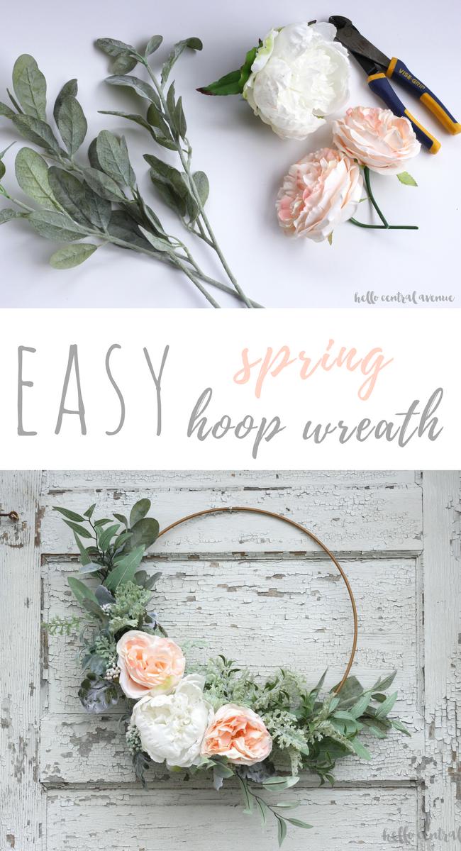 An Easy Diy Spring Hoop Wreath Hello Central Avenue