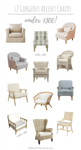Gorgeous neutral accent chairs for under $300!