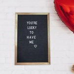 Walmart letterboard to hang above changing table