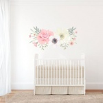 Large boho floral wall decal from Etsy to hang above the changing table