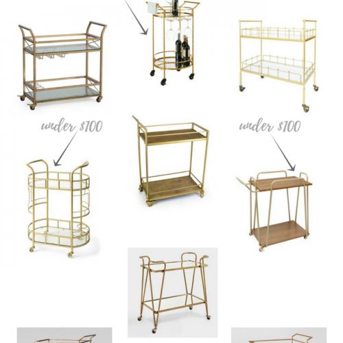 Affordable & Adorable Gold Bar Carts