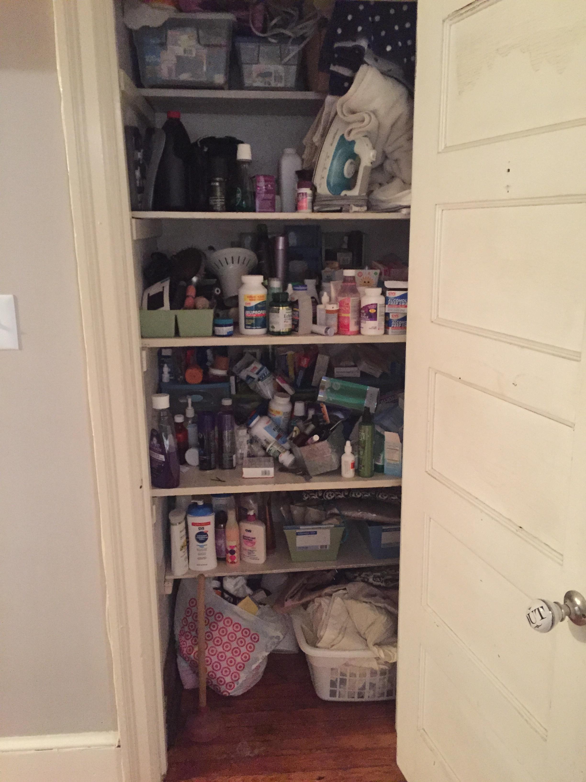 How To Organize A Small Linen Closet Hello Central Avenue