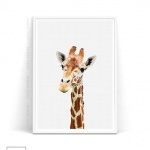 Giraffe download from Vivid Atelier on Etsy to hang above the changing table