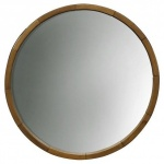 Round wooden mirror from Target to hang above the changing table