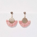 Loft raffia drop earrings