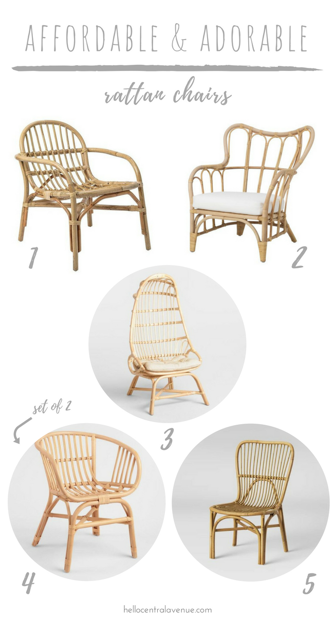 Affordable Adorable Rattan Chairs