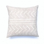 gray accent pillow