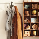 Pottery Barn nickel wall-mount coat rack