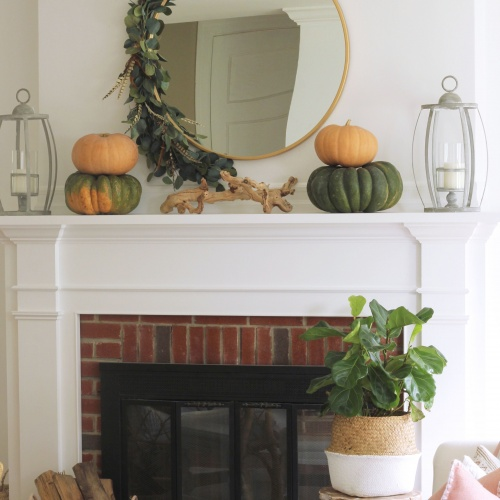 A Simple Fall Swag Wreath full of Eucalyptus