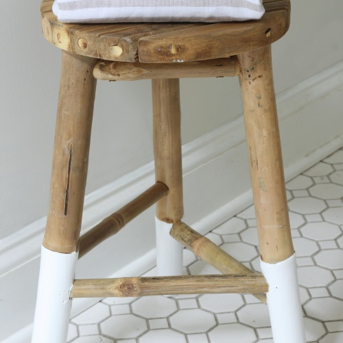 Serena & Lily Knock-Off Dip-Dyed Wooden Stool