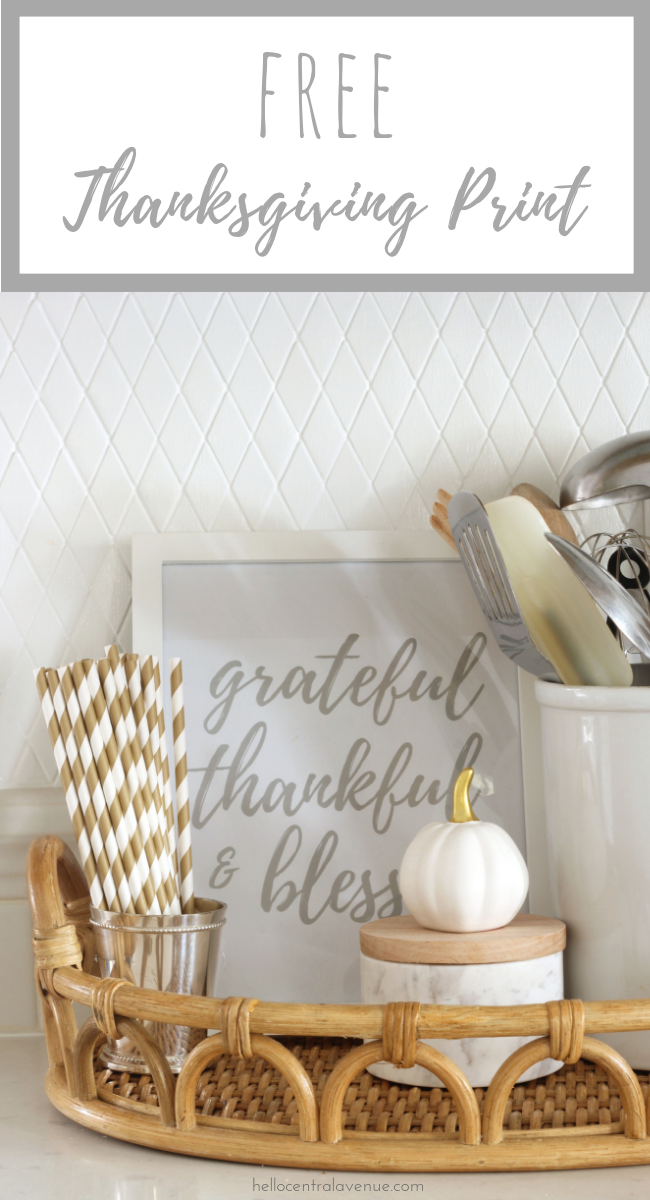 Add a cute FREE Thanksgiving printable to your home this fall! Being grateful, thankful, and blessed is something we should celebrate all year long, but November is a great time to display this in your home!