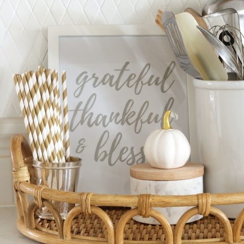 FREE Thanksgiving Printable: Grateful Thankful & Blessed