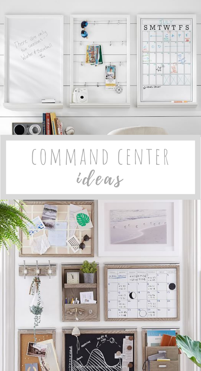 Organize your family by using these simple command center ideas! Find a place on a wall space or a closet door. Pull together some store bought options or DIY something easy. Creating a place to tame all the clutter will help you take control of your home!