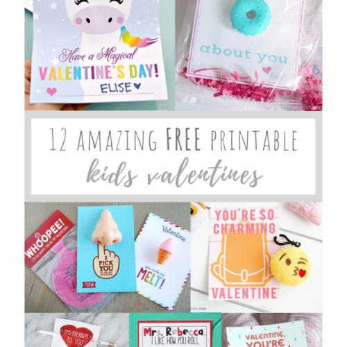 12 Amazing FREE Printable Kids Valentines