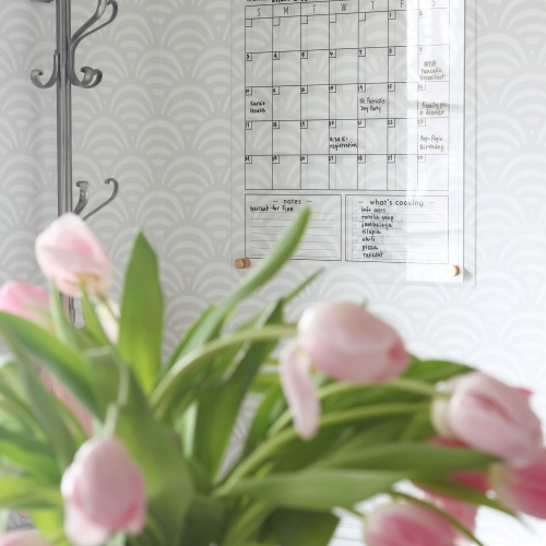 Family Command Center: Acrylic Wall Calendar
