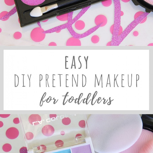 Easy DIY Pretend Makeup for Toddlers from the Dollar Store