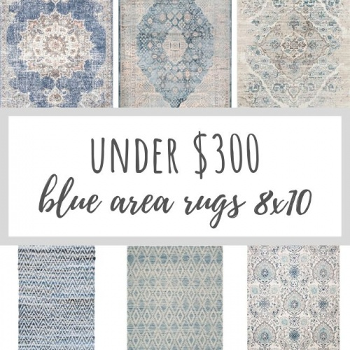 Beautiful and affordable blue area rugs come in all styles and shades! These blue area rugs are all 8x10 in size and under $300!