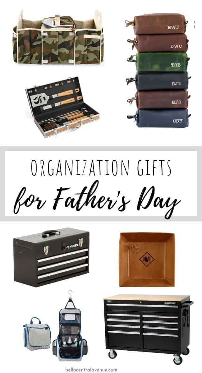 Organization gifts are the gifts that keep on giving! For this Father's Day, give your guy a gift that will help him stay on top the clutter and leave more room in his life for fun!