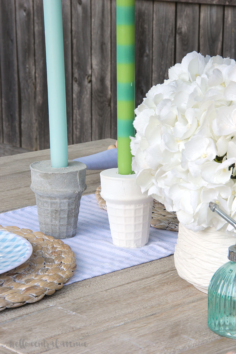 Cement candle holders using Quikrete fast-setting cement is a great first DIY cement craft! cement candle holders   cement projects   cement crafts   quikrete cement   cement patio ideas