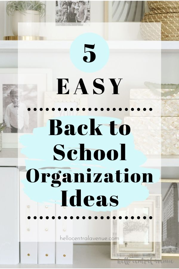 Start the school year off right by using these 5 easy back to school organization ideas for your home! These tips will keep you organized at home all year!