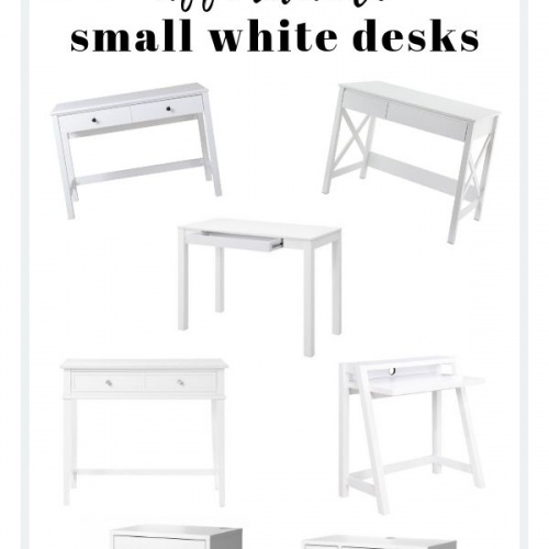 A Small White Desk for an Office Nook