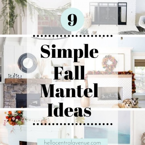 Simple Fall Mantel Ideas