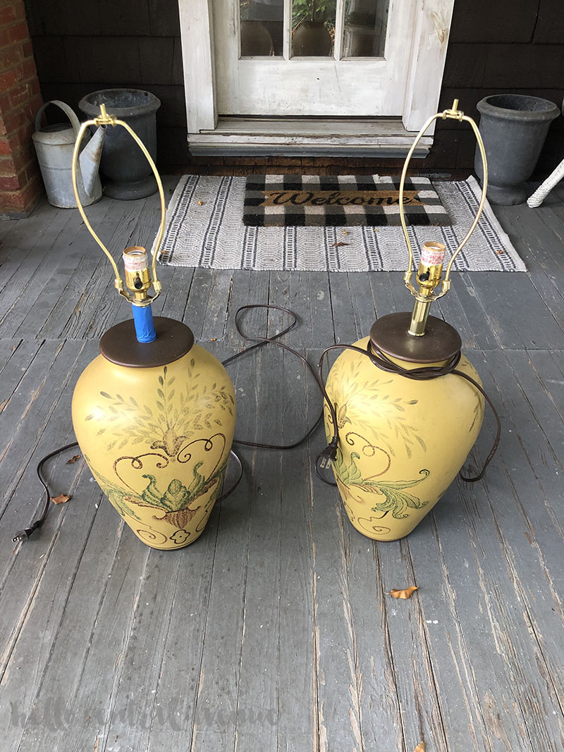 Goodwill lamps cost $3.00 to update with spray paint ideas.