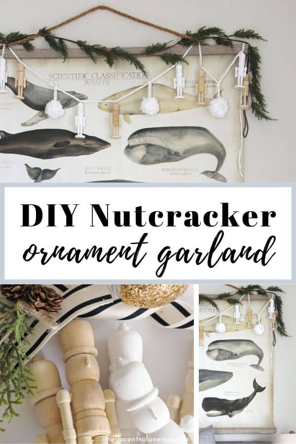 These little wooden nutcracker ornaments make the cutest simple DIY Christmas decor!