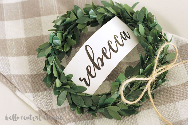 Keep your table setting simple this holiday season with these easy printable place cards!