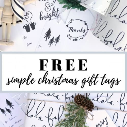 FREE Simple Printable Christmas Gift Tags