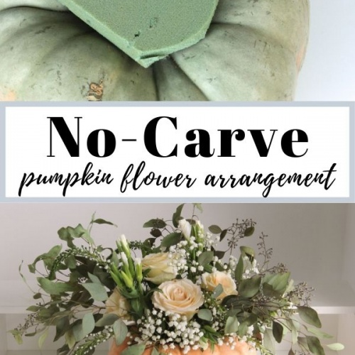 Easy Pumpkin Flower Arrangements-Including No-Carve