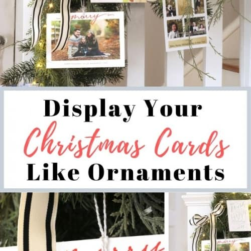 How to Display Christmas Cards Like Ornaments