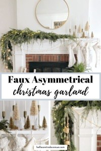 Faux asymmetrical Christmas garland