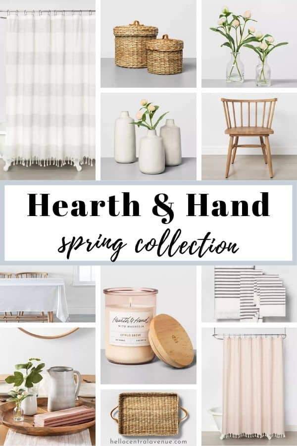 The Hearth and Hand spring collection is full of pastel colors, wood tones, and stripes!