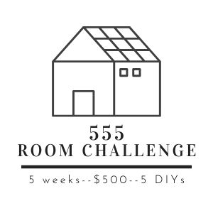 The 555 Room Challenge is a room makeover challenge that lasts 5 weeks, has a $500 budget, and must include 5 DIY projects.