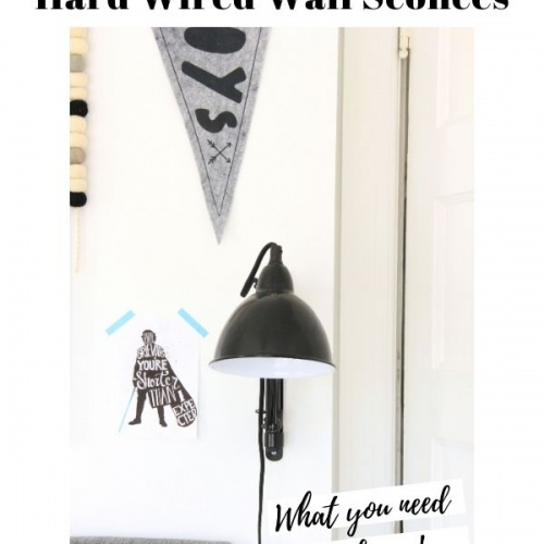 A Plug In Wall Sconce vs. A Hard Wired Wall Sconce: 555 Room Challenge Week 3