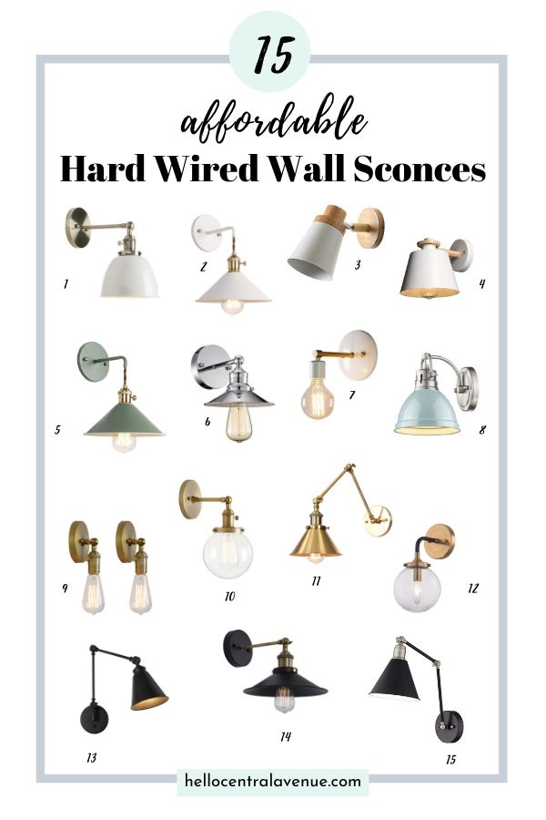 15 affordable hard wired wall sconces for your bedroom.